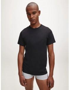 T-shirt nere uomo pacco da...